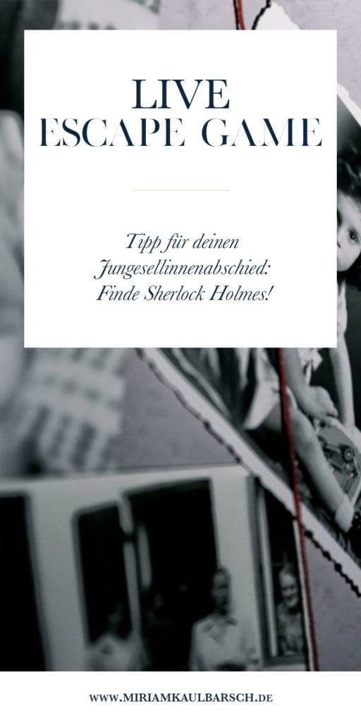 Tipp für deinen Junggesellinnenabschied: Rette Sherlock Holmes beim Live Escape Game in Berlin!