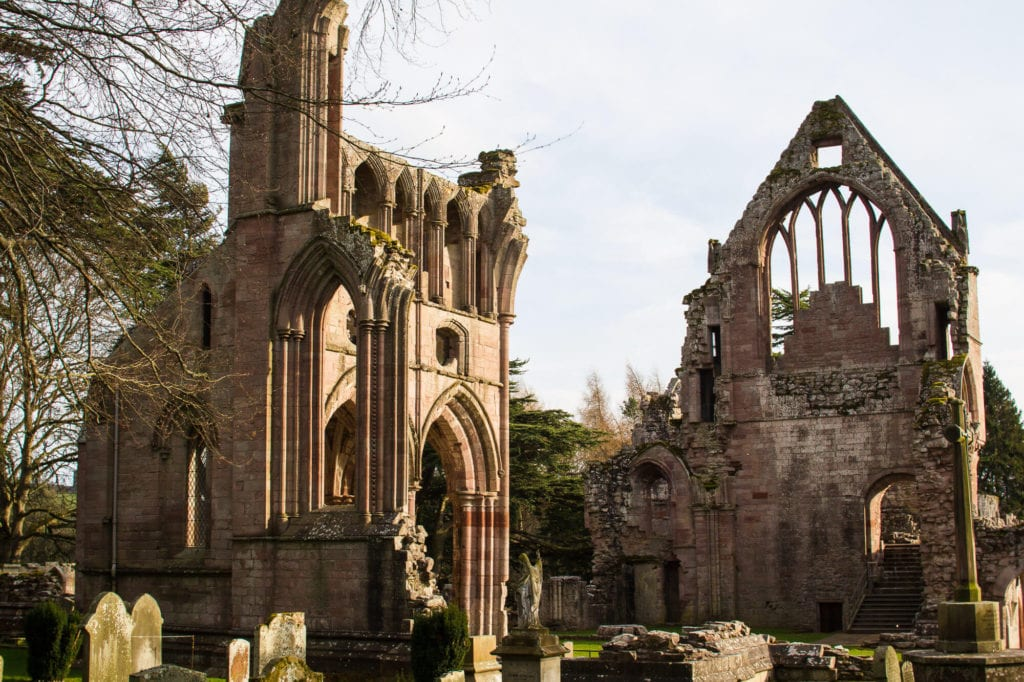 Scotland: Border Abbeys Way Road Trip to the Scottish Borders: Dryburgh Abbey