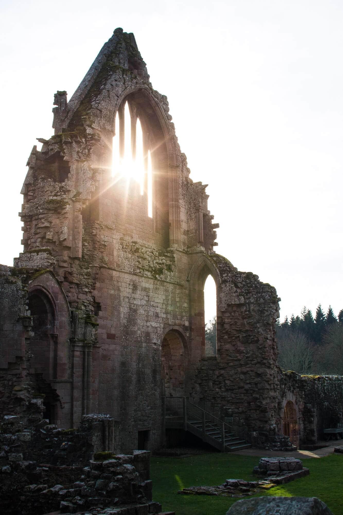 Scotland: Border Abbeys Way Road Trip to the Scottish Borders: Dryburgh Abbey