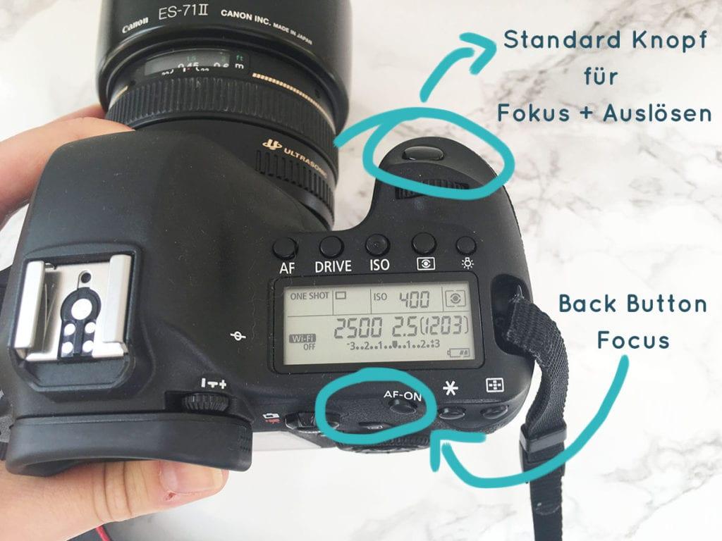 Was ist der Back Button Focus und wie stelle ich ihn ein?