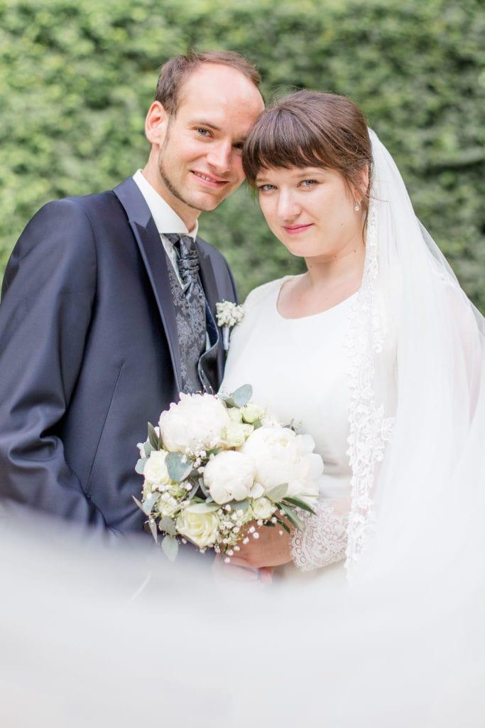 Brautpaar im Barockgarten Großsedlitz in Sachsen