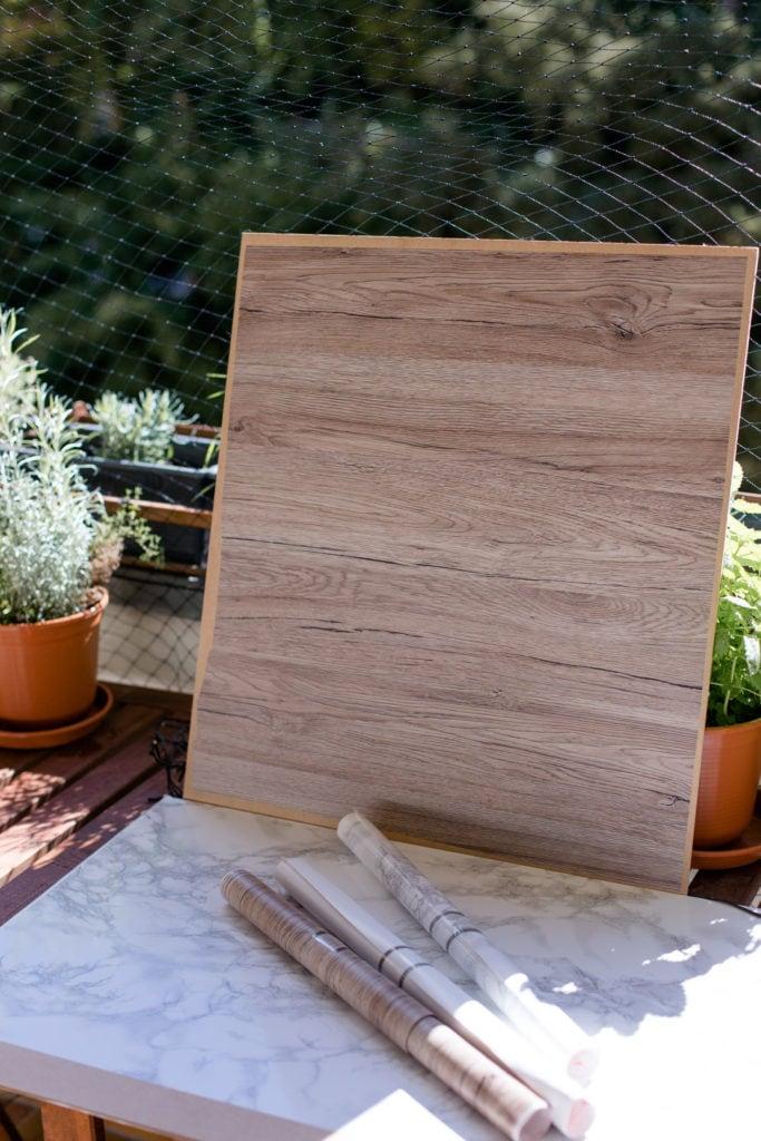 DIY Fotohintergrund, Setup auf dem Balkon