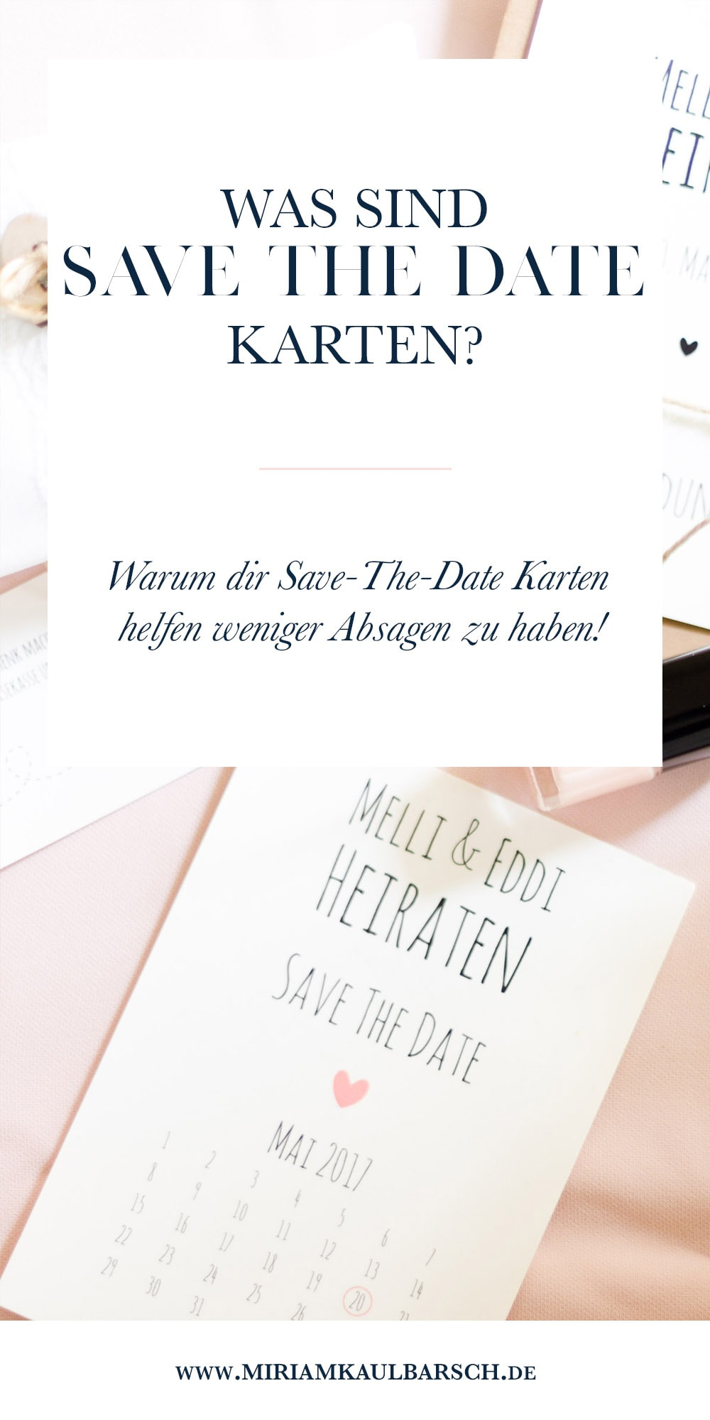 Was sind Save-The-Date Karten?