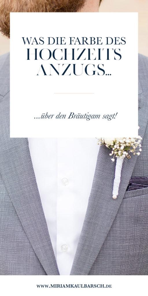 Was die Farbe des Hochzeitsanzugs über den Bräutigam aussagt