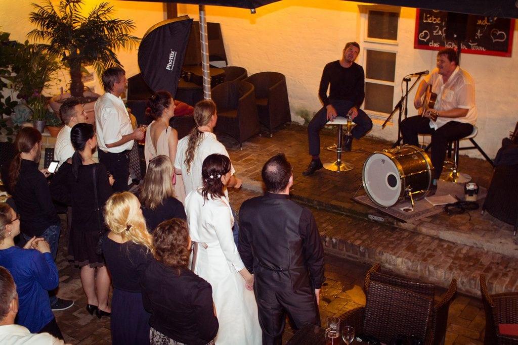 Live Musik auf Hochzeit
