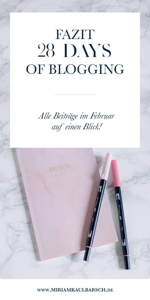 Fazit #28DaysOfBlogging - Alle Beiträge im Februar auf einen Blick!