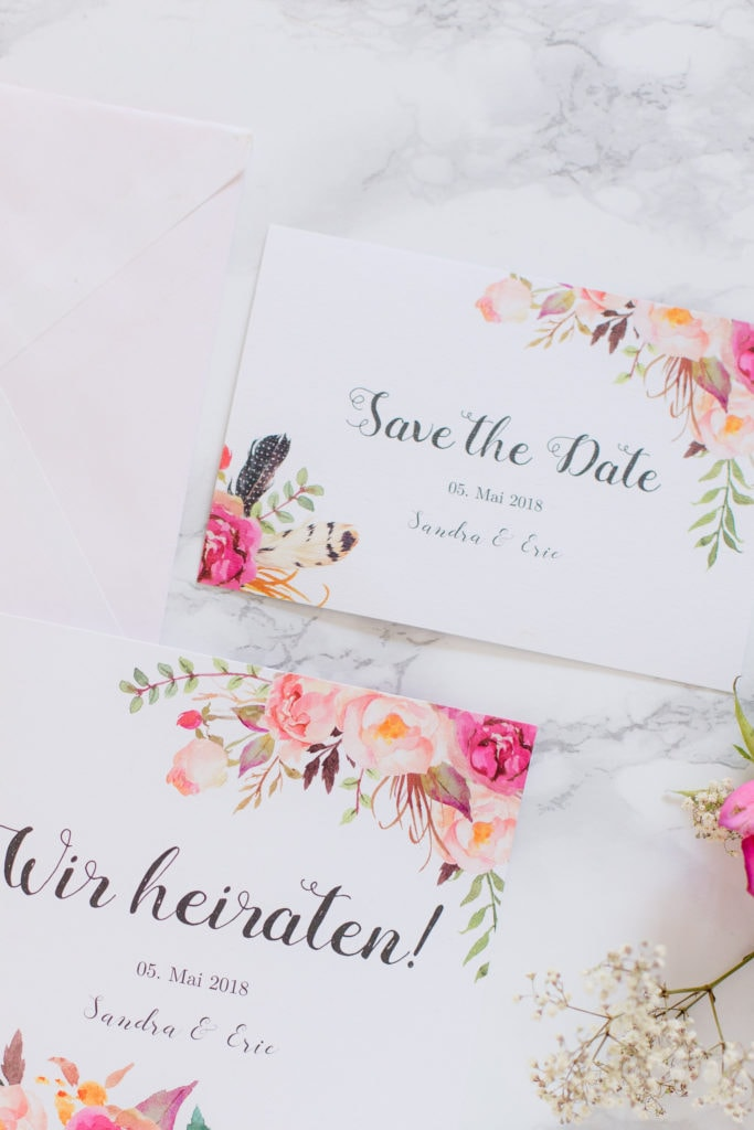 4 Möglichkeiten deine Hochzeitseinladung zu gestalten - Von vorgefertigten Designs bis hin zu super individuell!