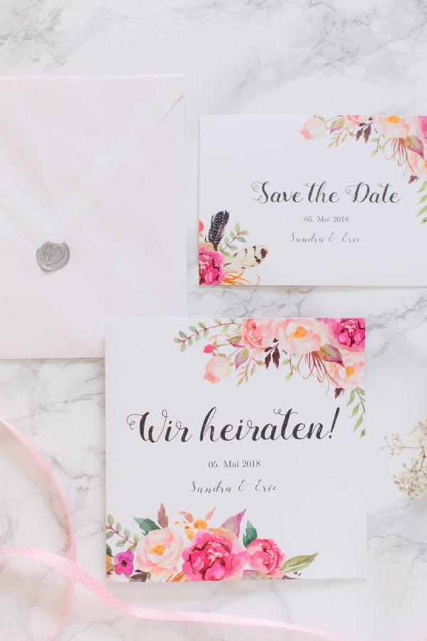 4 Möglichkeiten deine Hochzeitseinladungen zu gestalten!