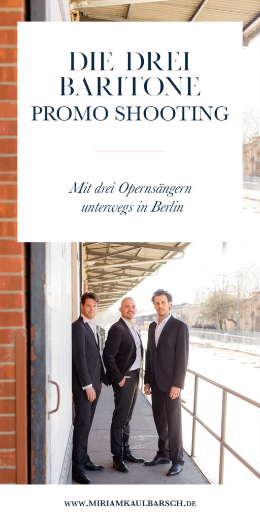 Die Drei Baritone - Promo Shooting in Berlin