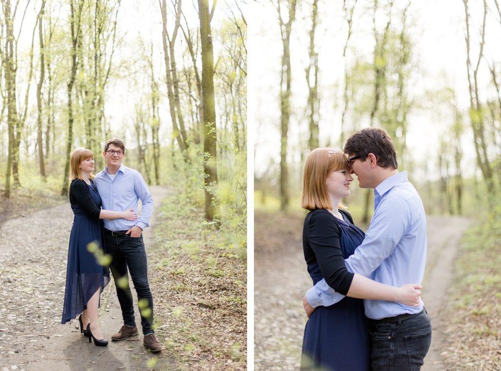 Frühlingshaftes Verlobungsshooting mit Nina und Willi im Humboldthain Berlin