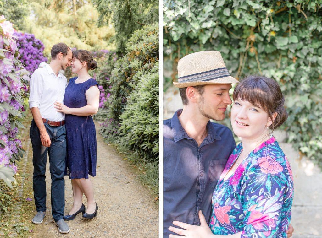 Buntes & sommerliches Verlobungsshooting im Rhododendronhain und Weinberg in Dresden