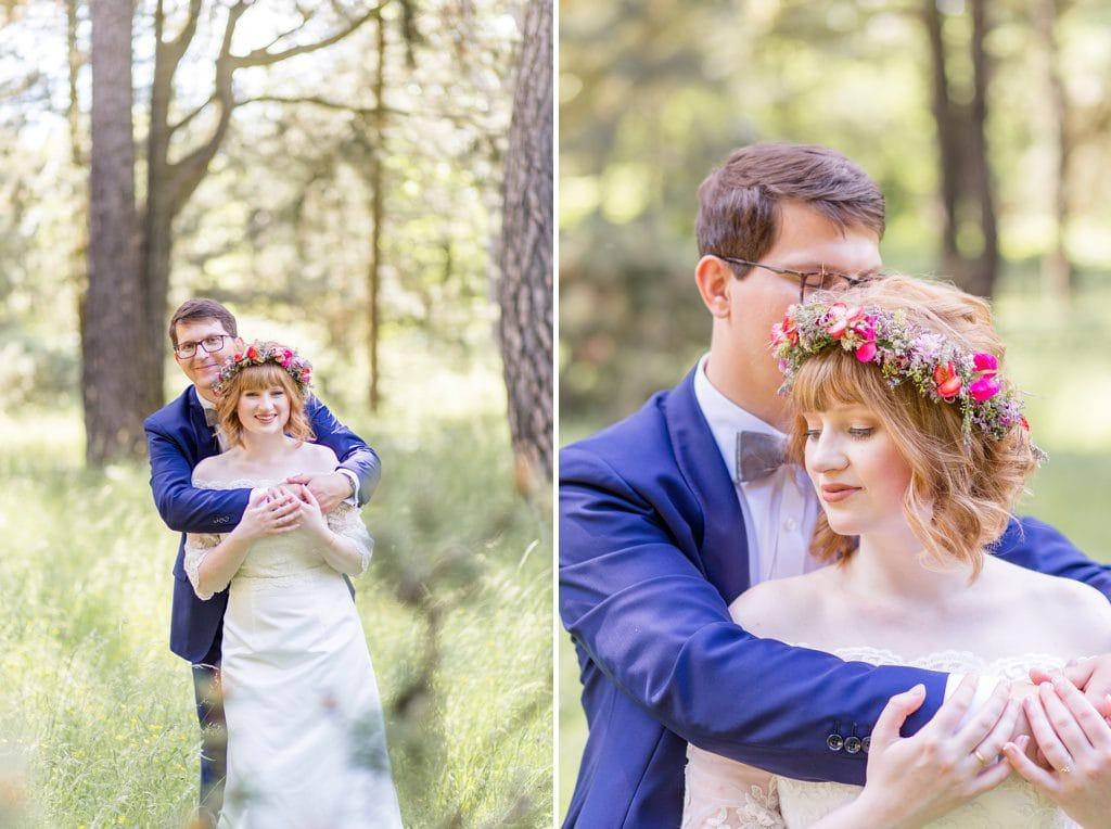 Standesamtliche Wildblumen Trauung von Nina und Willi in Berlin