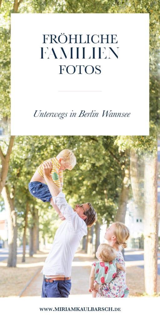 Fröhliche Familienfotos in Berlin Wannsee
