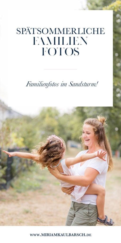 Spätsommerliche Familienfotos im Sandsturm in Stahnsdorf
