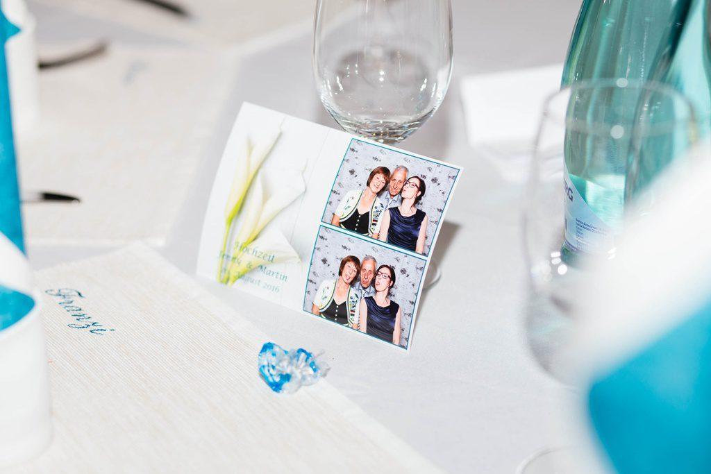 Foto aus der Fotobooth als Gastgeschenk