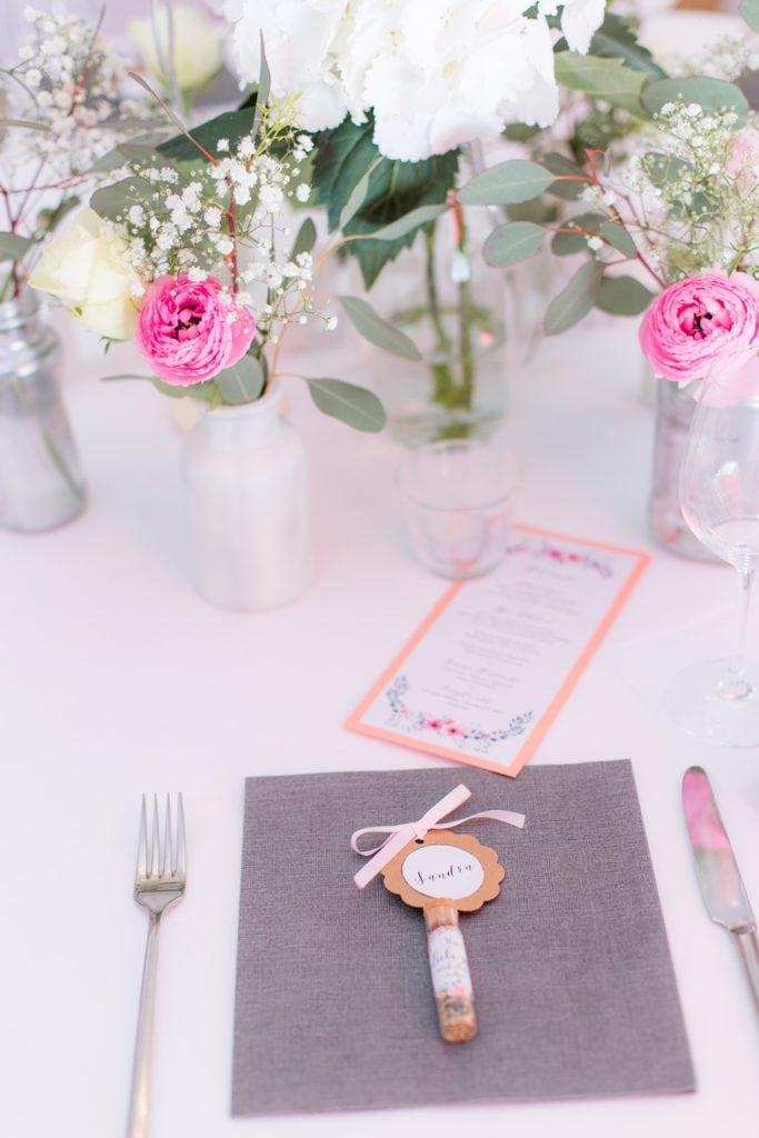 Blumensamen als Gastgeschenk getreu dem Hochzeitsmotto