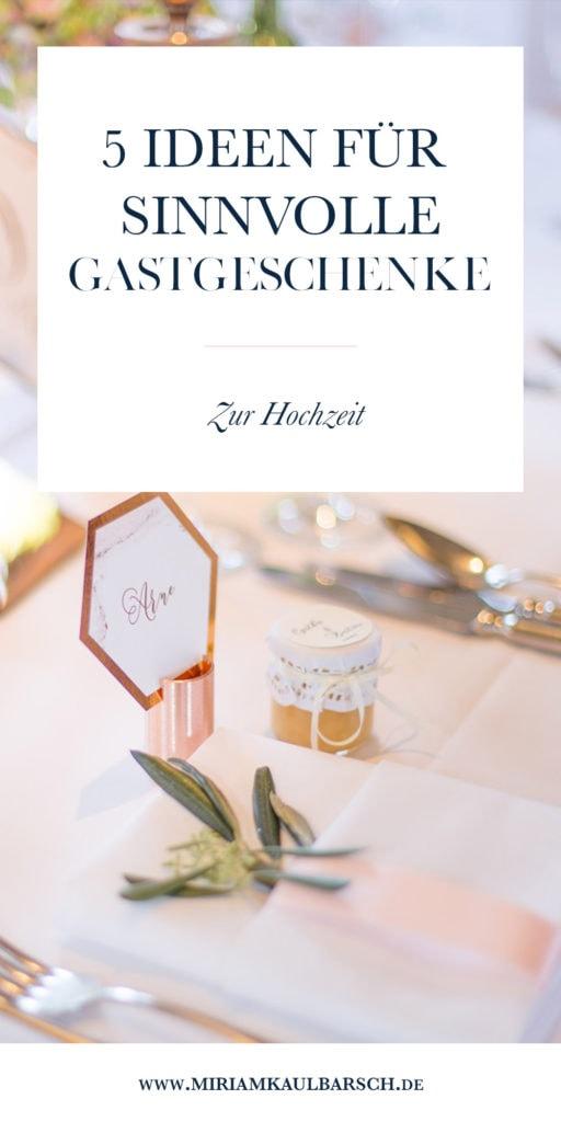 5 Idee für sinnvolle Gastgeschenke zur Hochzeit