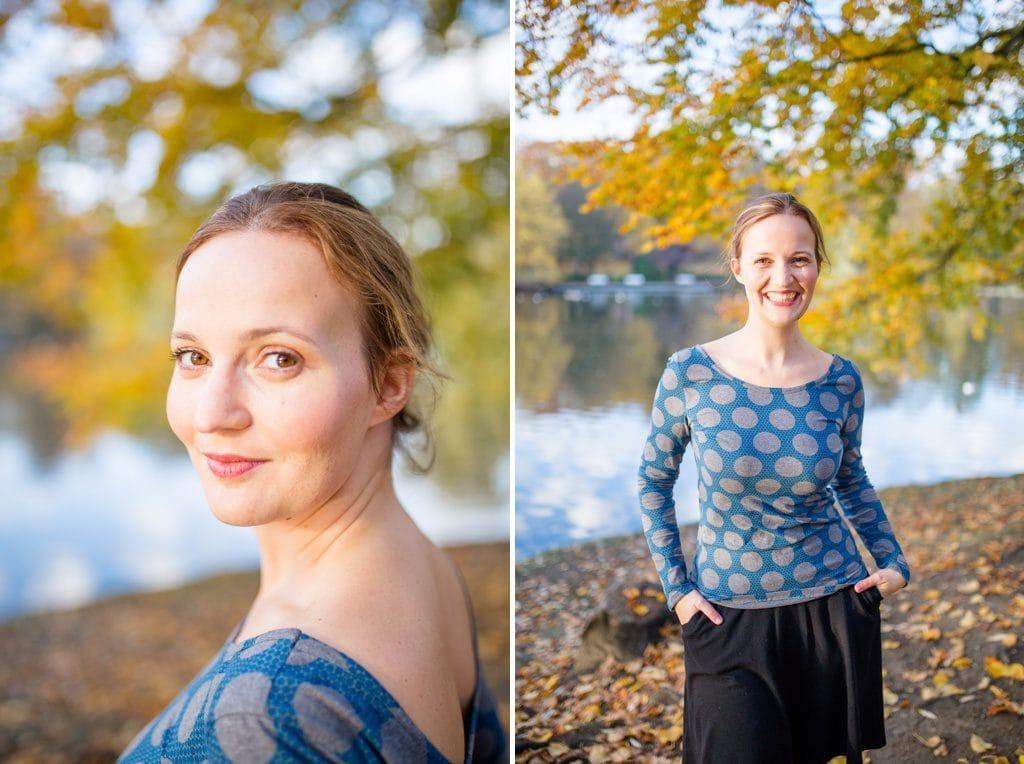 Ideen für schöne Herbst Fotos - Portrait in KIel