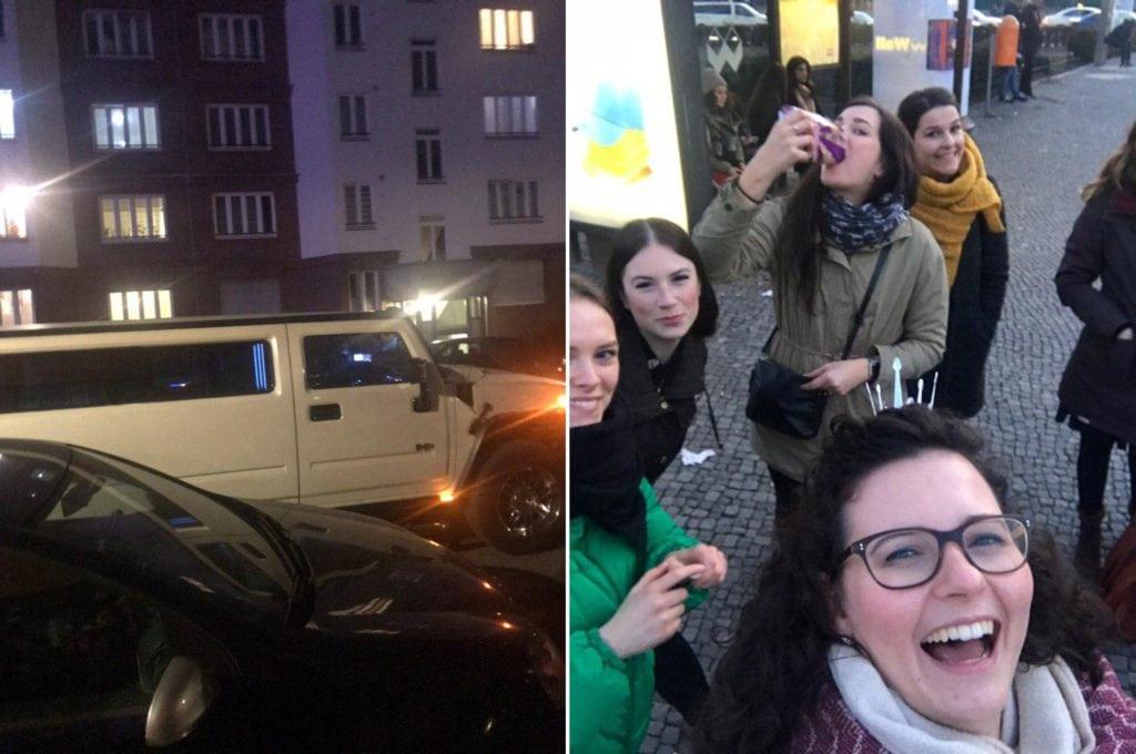 Die Limousine und wir Mädels