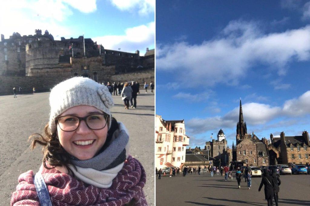 Selfie vor dem Castle