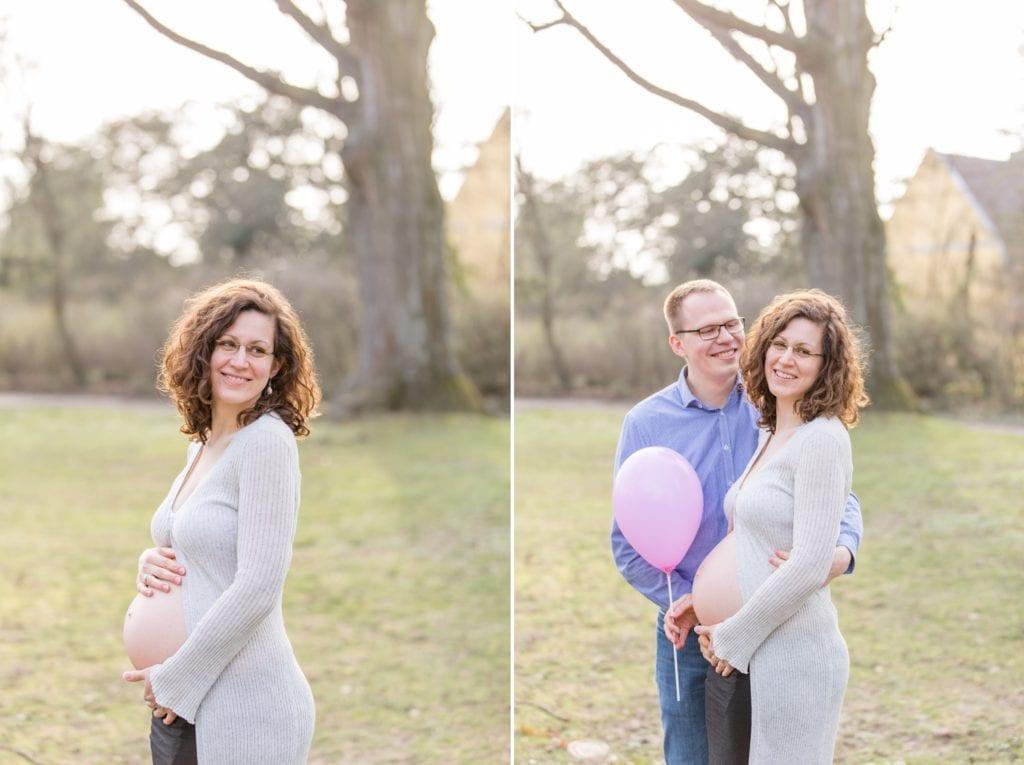 Schwangerschaftsshooting im Stadtpark Steglitz mit Sophia und Sebastian