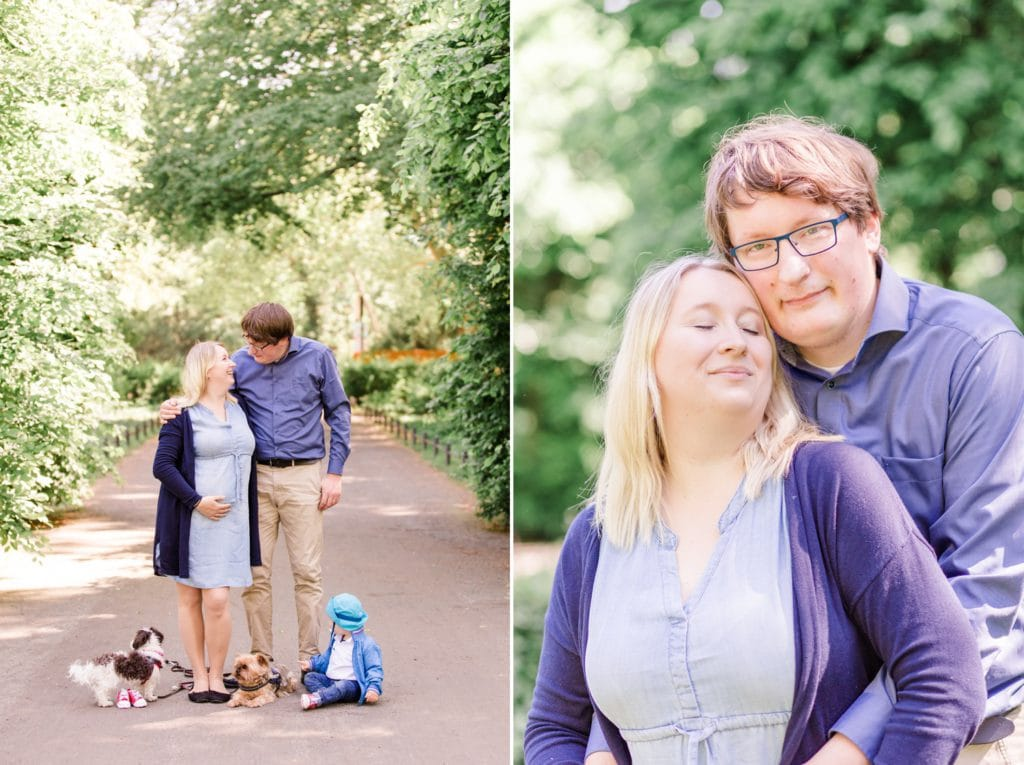 Familienfotos im Stadtpark Steglitz in Berlin
