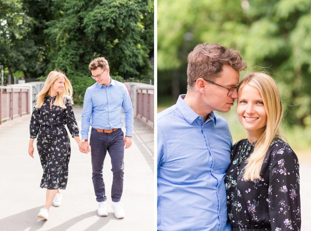 Verlobungsfotos am Anhalter Bahnhof in Berlin