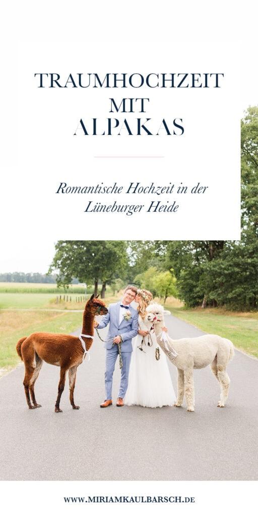 Traumhochzeit mit Alpakas - Romantische Landhochzeit in der Lüneburger Heide