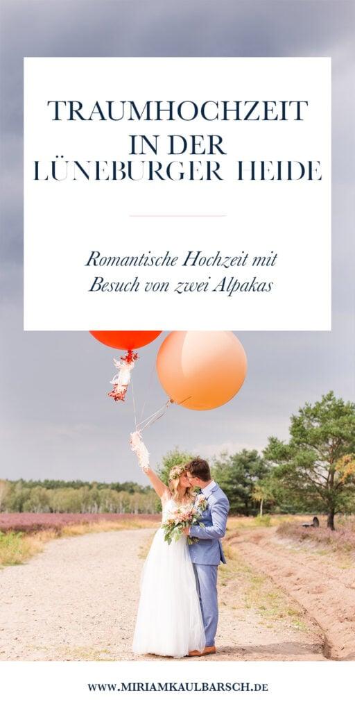 Traumhochzeit in der Lüneburger Heide - Romantische Landhochzeit mit Alpakas zur Überraschung