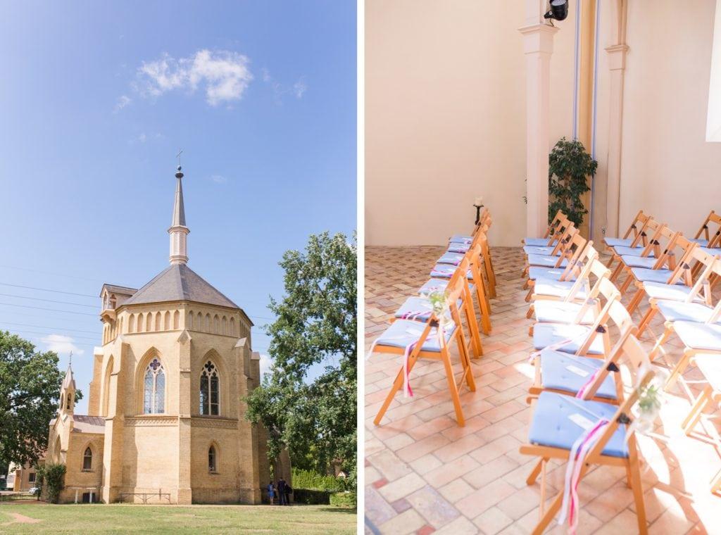 Standesamtliche Trauung mit Gartenfeier in der Alten Neuendorfer Kirche in Potsdam Babelsberg