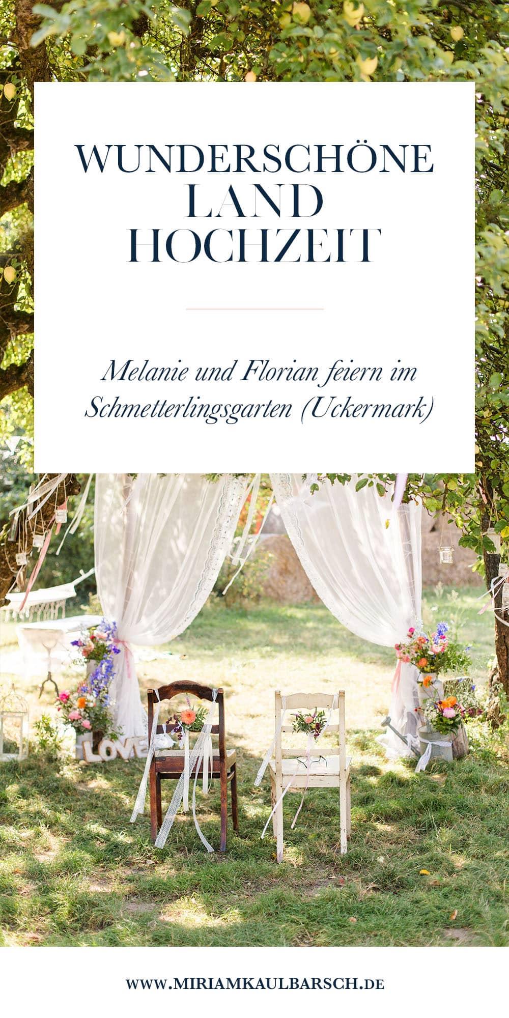 Wunderschöne Landhochzeit im Schmetterlingsgarten (Uckermark)
