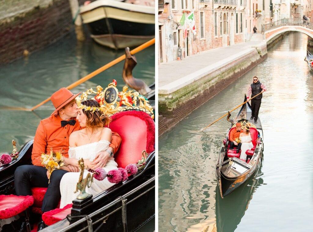 Venedig Shooting in einer Gondola