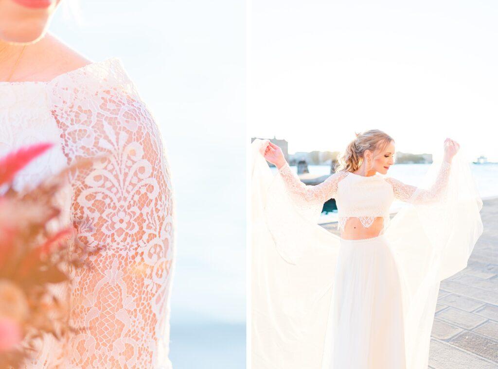 Bridal Portraits in Venedig am Wasser