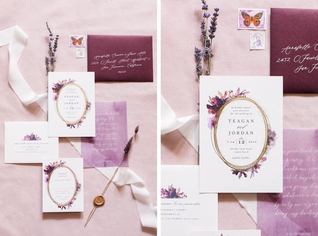 Flatlay Styling - Kreativ Hochzeitspapeterie im Flatlay stylen