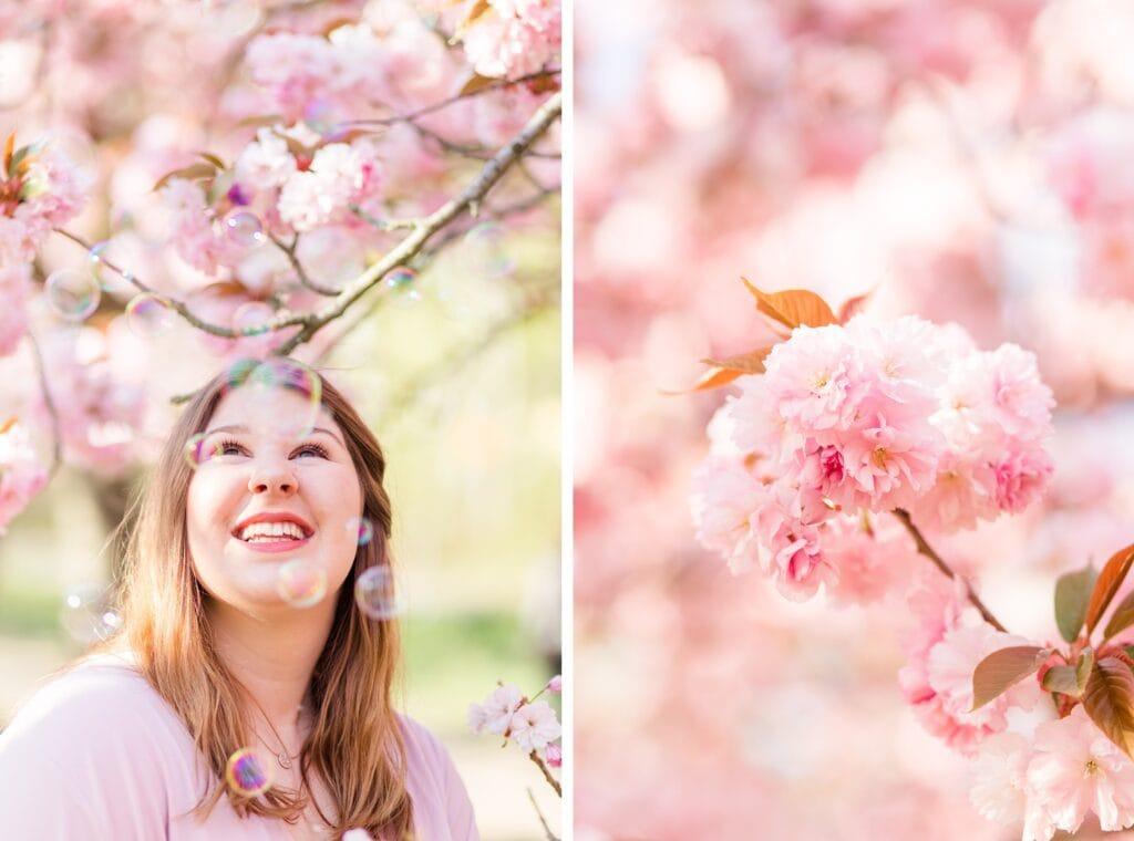 Kirschblüten Portraits im Frühling mit Lara vom Bloggerstammtisch