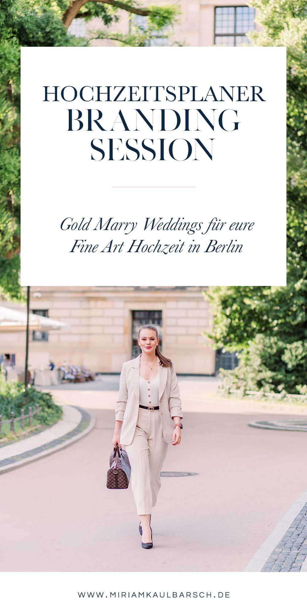 Hochzeitsplaner Branding Session für Gold Marry Wedding Berlin