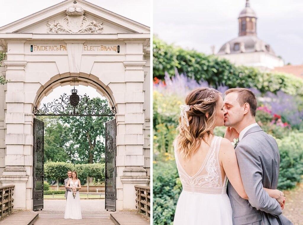 Brautpaar im Torbogen