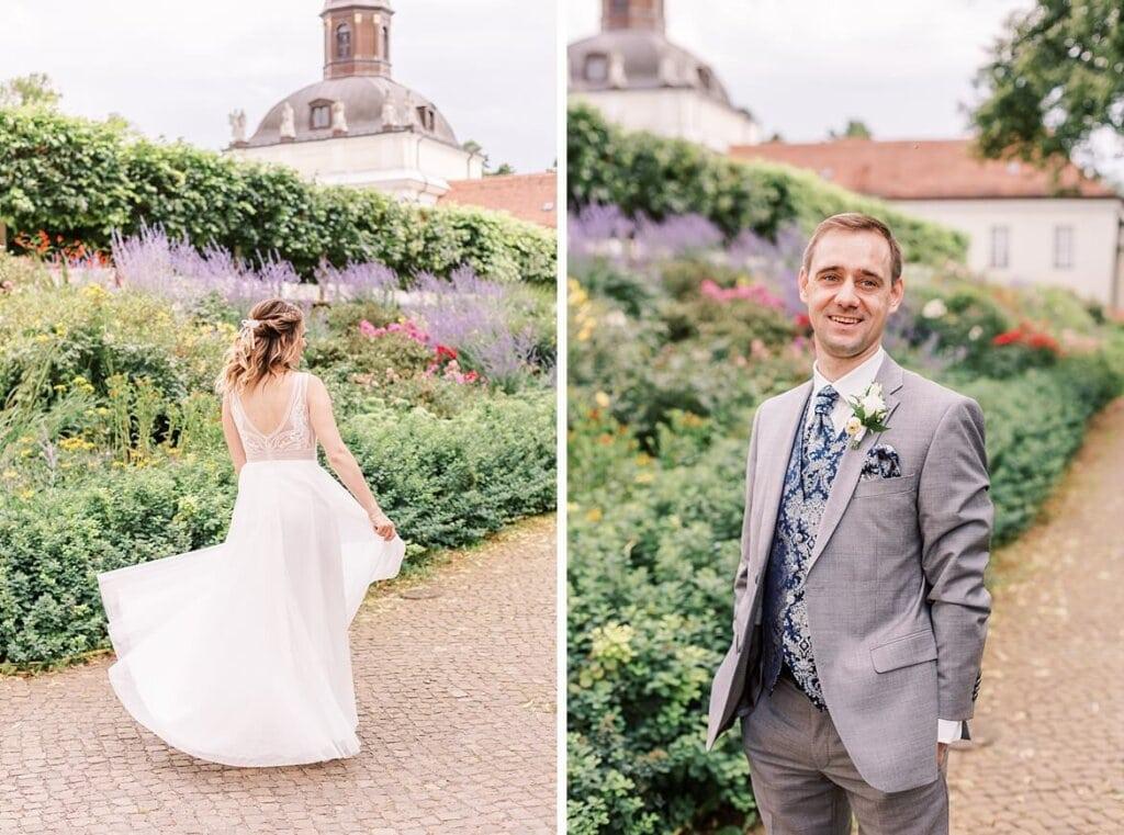 Braut und Bräutigam im Schlosspark