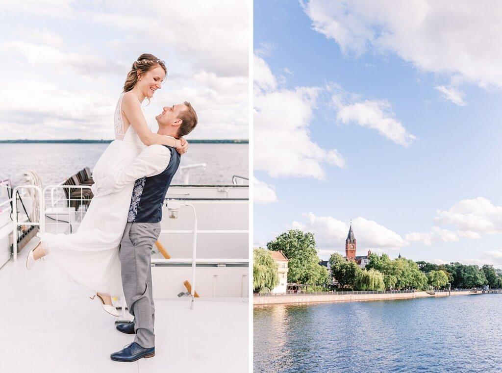 Brautpaar auf dem Boot