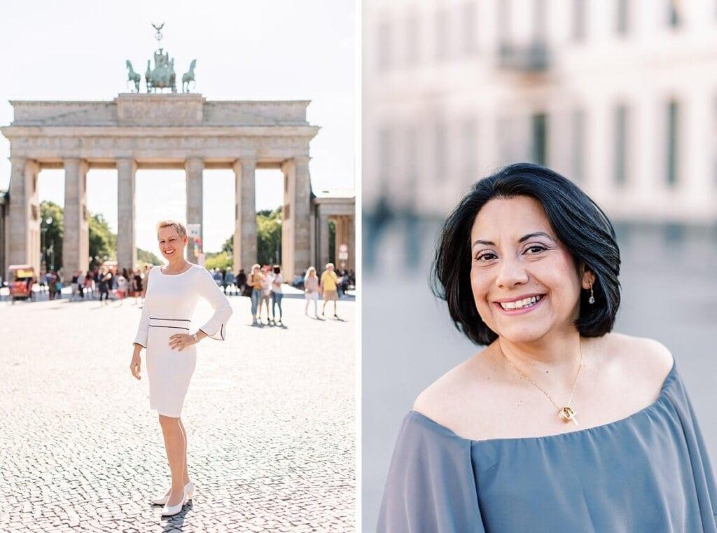 Sarah und Lili vor dem Brandenburger Tor Berlin