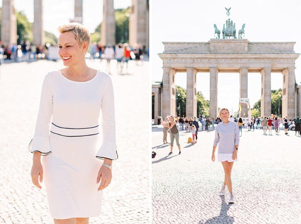 Sarah und Mandy vor dem Brandenburger Tor Berlin