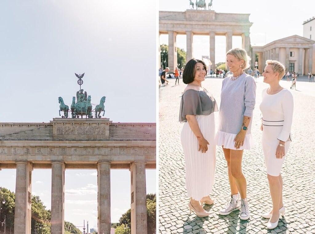 Brandenburger Tor Berlin und drei Frauen