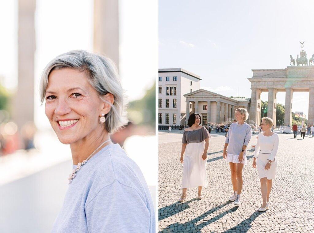 Portraits vor dem Brandenburger Tor Berlin