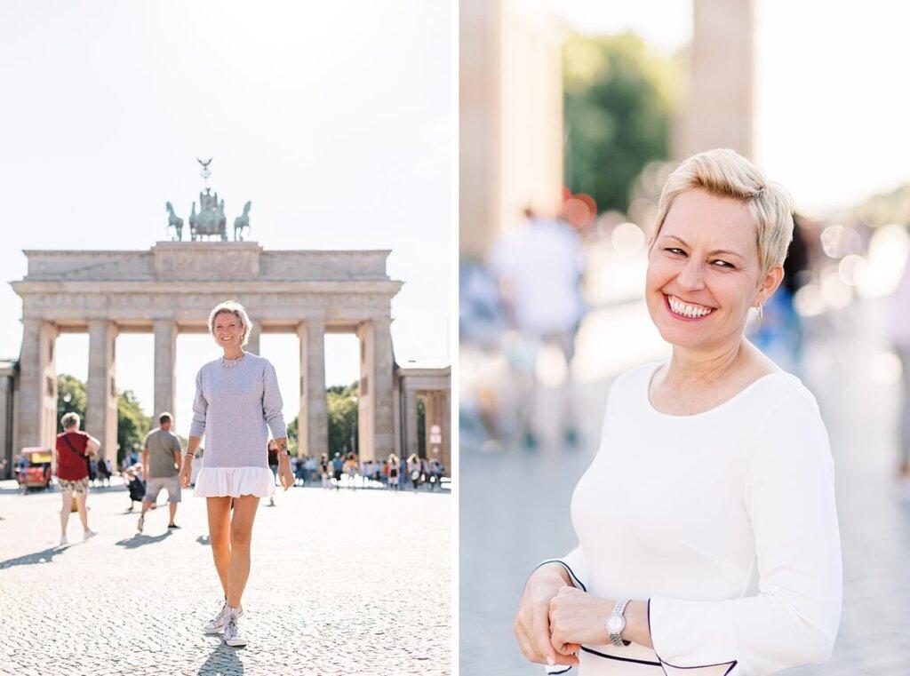 Portraits von Frauen vor dem Brandenburger Tor Berlin
