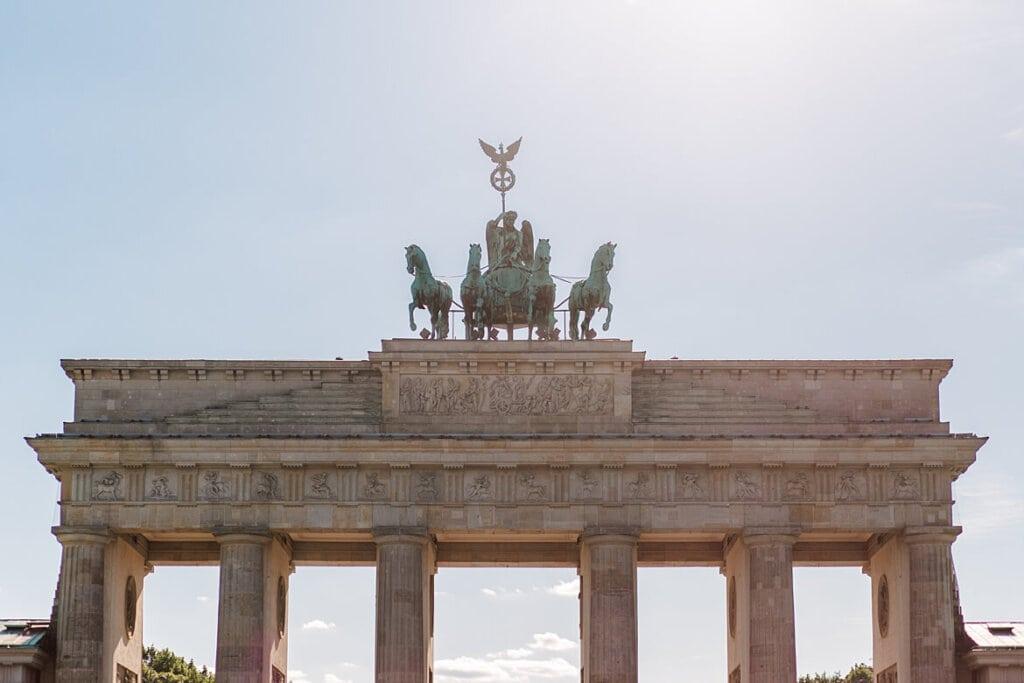 Obere Hälfte vom Brandenburger Tor Berlin