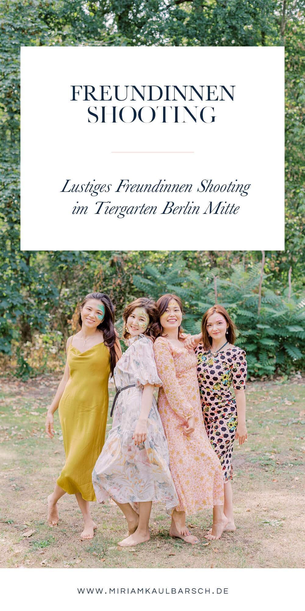 Lustiges Freundinnen Shooting im Tiergarten Berlin Mitte - mit Pastellkleidung und Gesichtsbemalung!