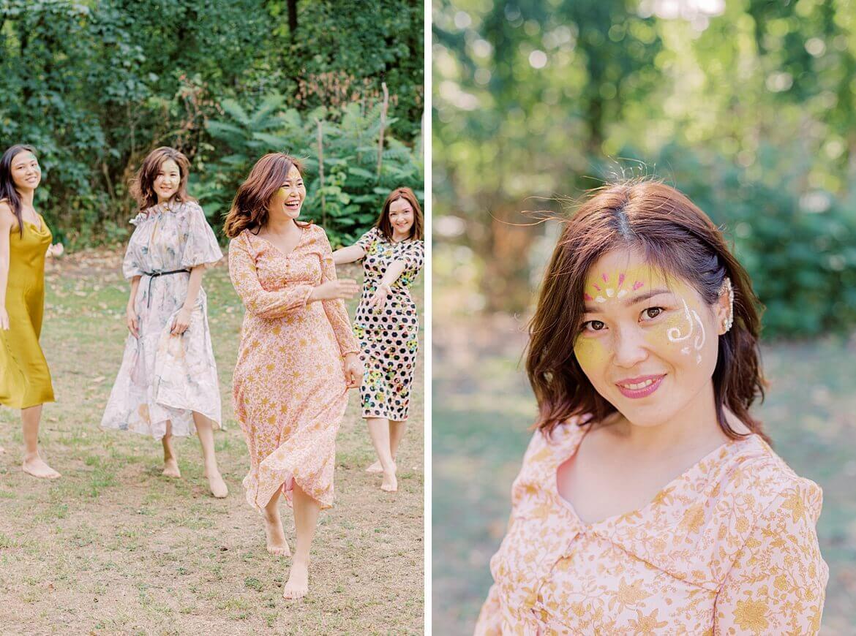 Frauen laufen im Park