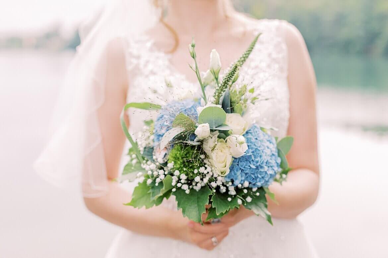 Nahaufnahme vom Brautstrauß