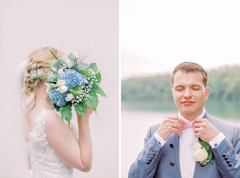 Nahaufnahme von Braut und Bräutigam