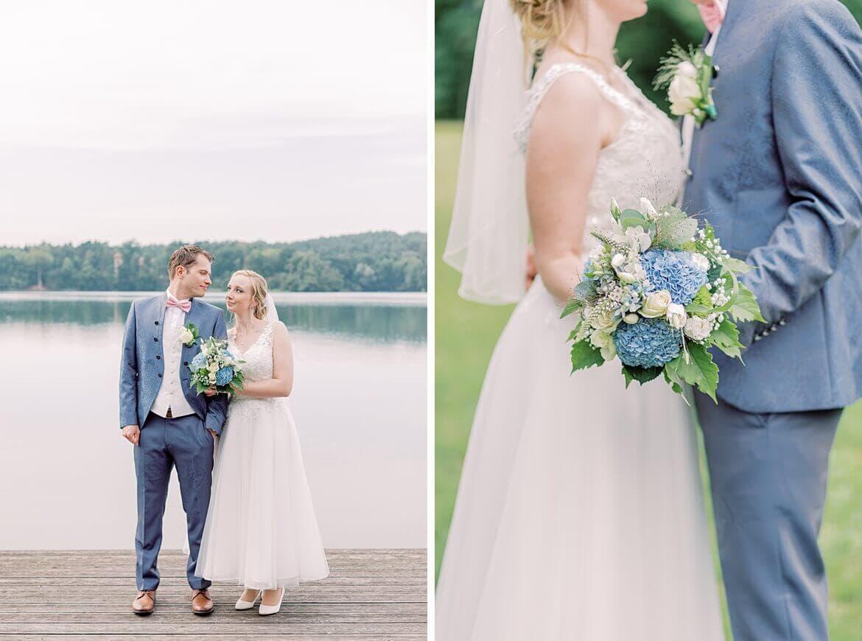 Brautpaar vor dem Wurlsee bei Lychen